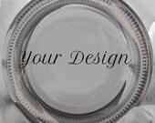 Customizable Plates, Ornate Silver Dinnerware, Customizable Dishes, Personalized Plates, Personalized Dishes, Bespoke Plates Wedding