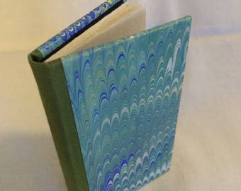 Marbled paper cover mini notebook, good for on-the-go, and writing passwords