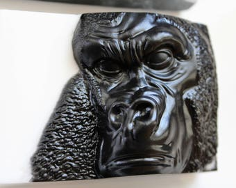 GORILLA SOAP, Ape Soap, Animal Soap, Silver Back, Great Ape, African Gorilla, Primate Soap, Party Favor, Custom Colored, Custom Scented Soap