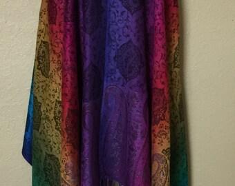 Colorful Paisley Pashmina Vest