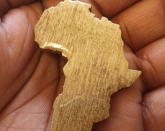 Africa - Africa Shaped - Africa Pin - Africa Broach