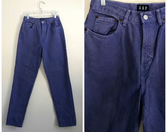 """1990s high waisted periwinkle purple mom Gap jeans size 29 - 30"""""""