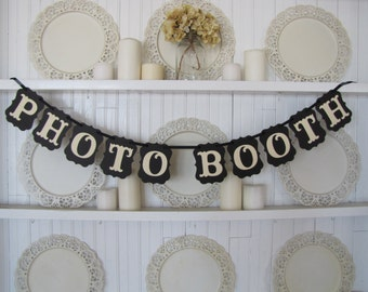 PHOTO BOOTH Banner, Wedding Decoration, Birthday Party Decoration, Photo Booth Sign, Photo Booth,