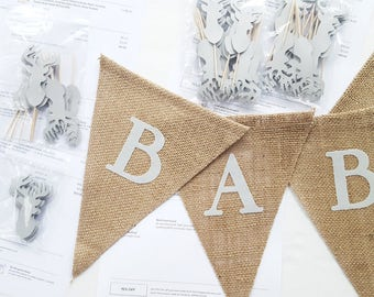 how to make a fabric pennant banner with letters