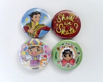 Phichit!!! ON ICE Button Set