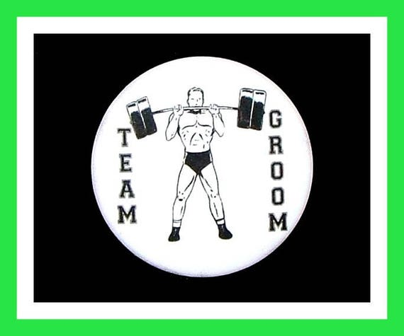 "Team Groom Favors,Wedding Favors,Bachelor Favors,Engagement Party Favors,Button Pin, 2.25"" Set of 10"