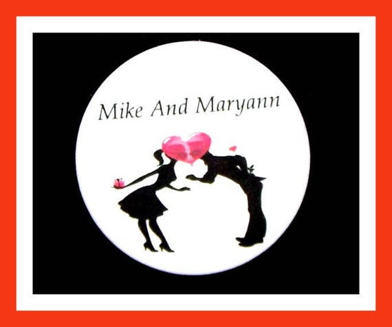 "Wedding Favors,Engagement Favors,Bridal Shower Favors,Button Pin  2.25""  Set of 10"
