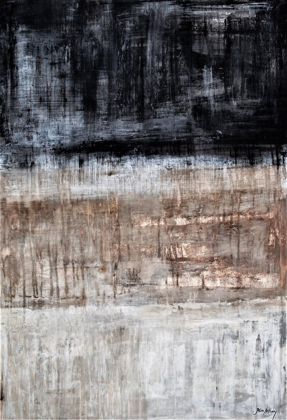 Original painting on canvas, abstract painting  creme grey  Acrylic painting  large wall art