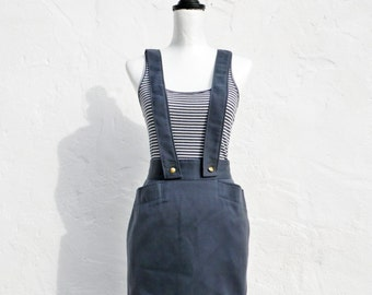 Extra small dungaree skirt extra small pinafore skirt extra small strap skirt petite blue mini skirt petite dungaree skirt petite pinafore