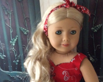 American Made 18 Inch Girl Doll Clothing-Game Day Dress For My Ohio State Fans