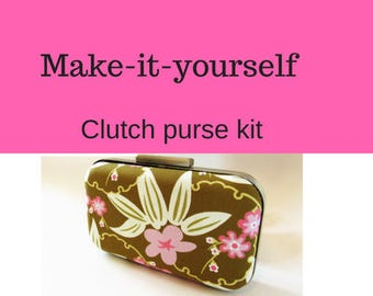 modern clutch kit, clutch purse tutorial, make it yourself, diy tutorial, diy purse, diy clutch, kit, DIY clutch purse, clamshell clutch