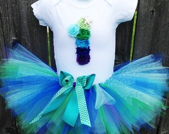 Mermaid Birthday Tutu Outfit | First Birthday Tutu Set with Headband | Other Colors and Numbers Available | First Birthday, Second Birthday