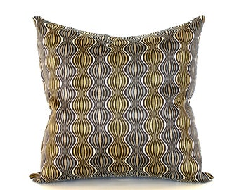 Mid Century Grey Gold Pillow Cover Upholstery Fabric Throw Pillow Cover Decorative Pillow Floor Cushion 26x26 24x24 22x22 20x20 18x18 16x16