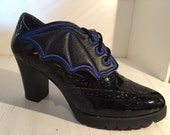 Faux leather Bat wing  inspired shoe wings great for Comicon
