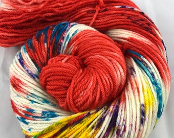 Oscar Worsted, Hand Dyed Yarn, Worsted weight, number 4, 10 ply, Hand dyed, medium weight, HauteKnitYarn, Yarn, Paint Night