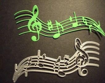 Fustella Note musicali, 10pz Fustellato in Cartoncino. Ideale per decorazioni o scrapbooking.