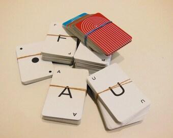 letter cards, alphabet cards, scrapbook letters, word cards, altered art letters, letter set, a-z, 309 pieces