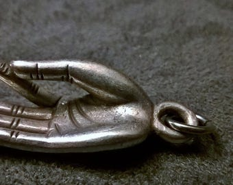 brass buddha hand pendant