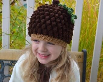 Acorn or Pinecone Hat