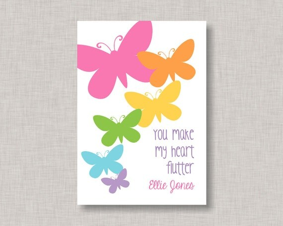Valentine Classroom Cards Butterfly Valentine Card Classroom