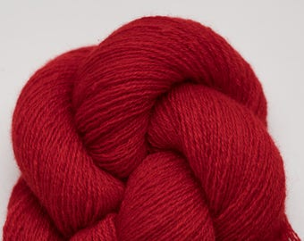Lust Red II Recycled Cashmere Lace Weight Yarn, CSH00266