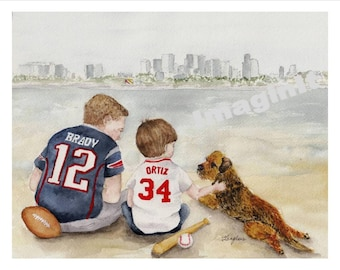 Brothers from New England - 8x10/5x7  - Tom Brady; David Ortiz