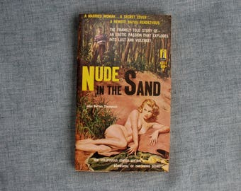 Vintage Paperback Book Nude in The Sand Sleaze Pulp Fiction Beacon Book 1959 Great Cover Art Unread
