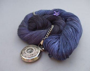 Gentle Caress 4 ply Sock & Shawl Yarn. Violet Eyes