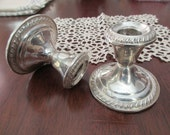 pair of vintage sterling silver candle holders - candlesticks