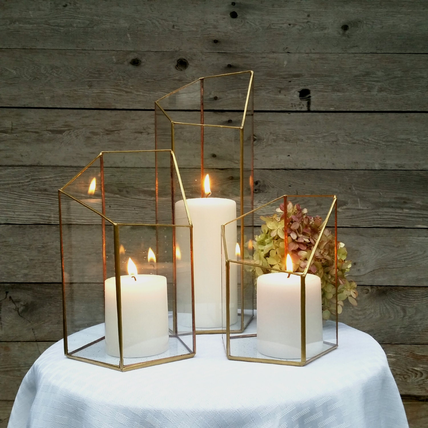 Candle holder lighting wedding centerpiece by lonesomehobo