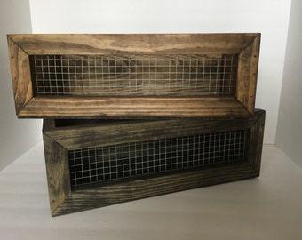Rustic Wire Crate