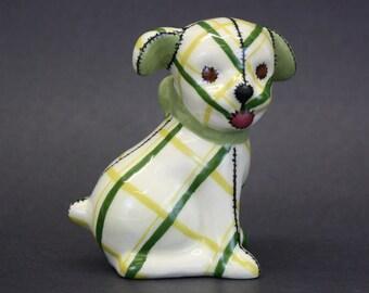 Vintage Patchwork Dog Figurine (E7928)
