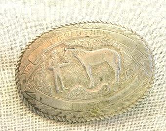 Western Belt Buckle, Silver, Western Style, Equestrian Buckle, Rodeo Buckle, Western Wear, Cowboy Style, Large, Horse, Accessories, Rustic