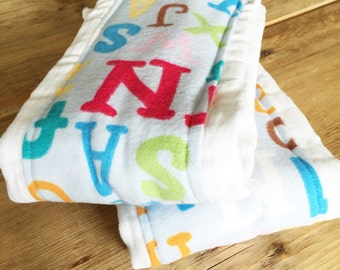 Burp Cloth Set of 2 - in Letters Style - New Baby Shower Gift