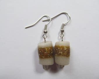 Opaque & Brown African Earrings