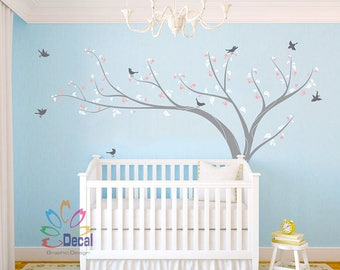 Removable wall decal wall sticker Nursery Tree Birds flowers DC0109