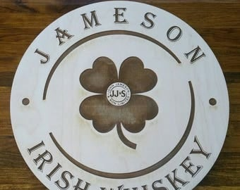 Jameson Irish Whiskey Wood Sign