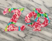 1 Set Iron on Greek Letters - watercolor roses