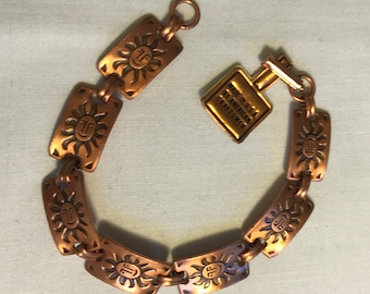 Vintage Copper Link Bell Chain Bracelet