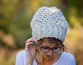 Slouchy Souffle Beret Hat Crocheted / THE PARIS HAT / 36 Custom Colors