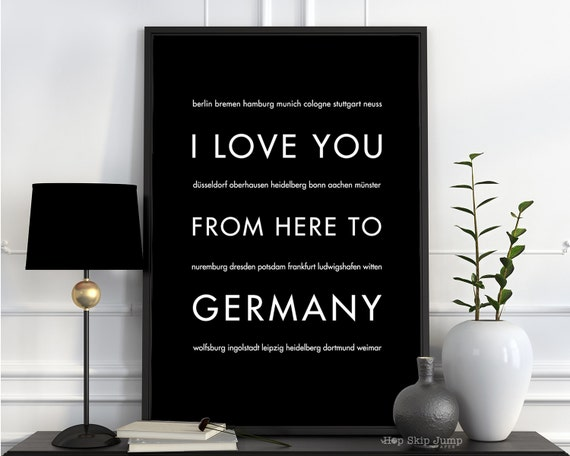 Valentines Day Germany Art Print