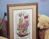 50%OFF Rare Vintage D. Doris Morgan MY Little Boy Rocking Horse & Poem By Leisure Arts - Counted Cross Stitch Pattern Chart