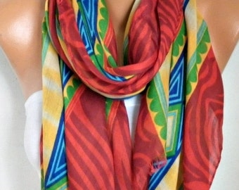 ON SALE --- Red Cotton Scarf,Summer Scarf Cowl Bridesmaid Gift Beach Wrap Pareo Gift Ideas For Her Women Fashion Accessories Scarves