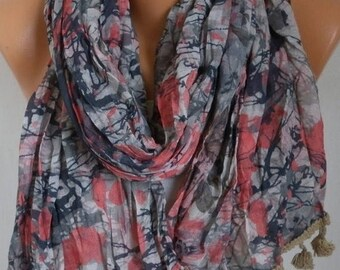 ON SALE --- Camouflage Cotton Scarf, Fall Shawl,Christmas Gift,Gift Ideas For Her Women Fashion Accessories