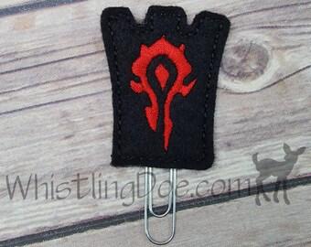 Warcraft Horde Faction Felt Bookmark