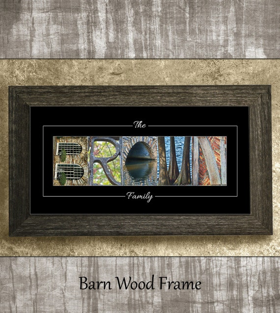 Father's Day Gift, Last Name Sign, Gift for Dad, Alphabet Photography, Gift for Parents, Anniversary Gift, Birthday Gift