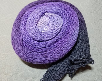 "Gradient sock flat ""Deep Purple"" Superwash Merino Nylon"