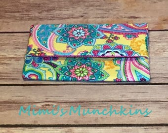 Tissue Holder, Pocket Tissue Holder, Travel Tissue Pouch, Kleenex Cover, Tissue Case, Teacher Gift, Ready to Ship