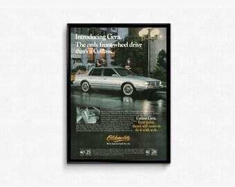 1982 Cutless Ciera • Vintage 80s Car Ad • Oldsmobile Cutlass Ciera • Love My Cutlass • Silver Car Photo • Man Cave Car Guy • Sweet 80s Ride