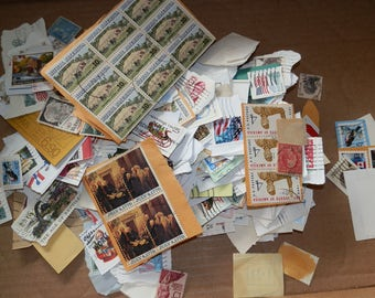 Lot of 500+   Assorted/Mixed Postage Stamps-Paper Ephemera....Lot 3